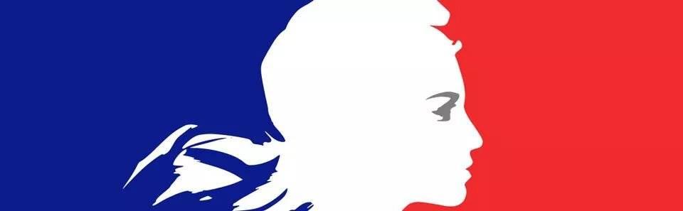 sigle Marianne et drapeau français